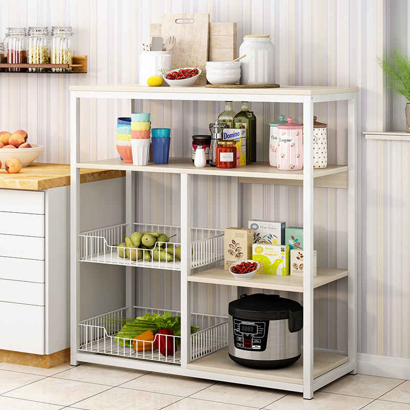 Home Storage Cabinet Sideboard Buffet Cupboard  Multifunctional Kitchen Cabinet Furniture Storage Rack