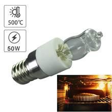 E14 50w forno lâmpada de alta temperatura resistente seguro halogênio secador de lâmpada de microondas vida para 2000h lâmpada de iluminação para casa