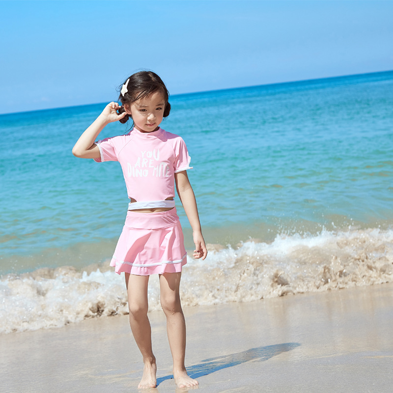KID'S Swimwear Girls Split Skirt-Big Boy GIRL'S Princess Korean-style Baby Cute Swimwear CHILDREN'S Swimsuit