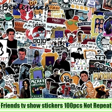 100pcs Friends tv show decals scrapbooking diy stickers home decoration phone laptop waterproof cartoon accessories pasters