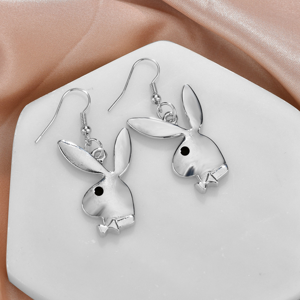 Punk Funny Animals Bunny Dangle Earring Vintage Hiphop Rabbit Head Drop Earrings For Women Girls Gifts Jewelry Party Club
