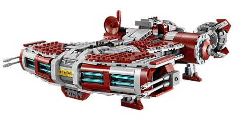 05085 1124pcs Jedi Space War Defender-Class Cruiser Jedi style Model Building Block Toys Compatible with Star Wars 75025 1