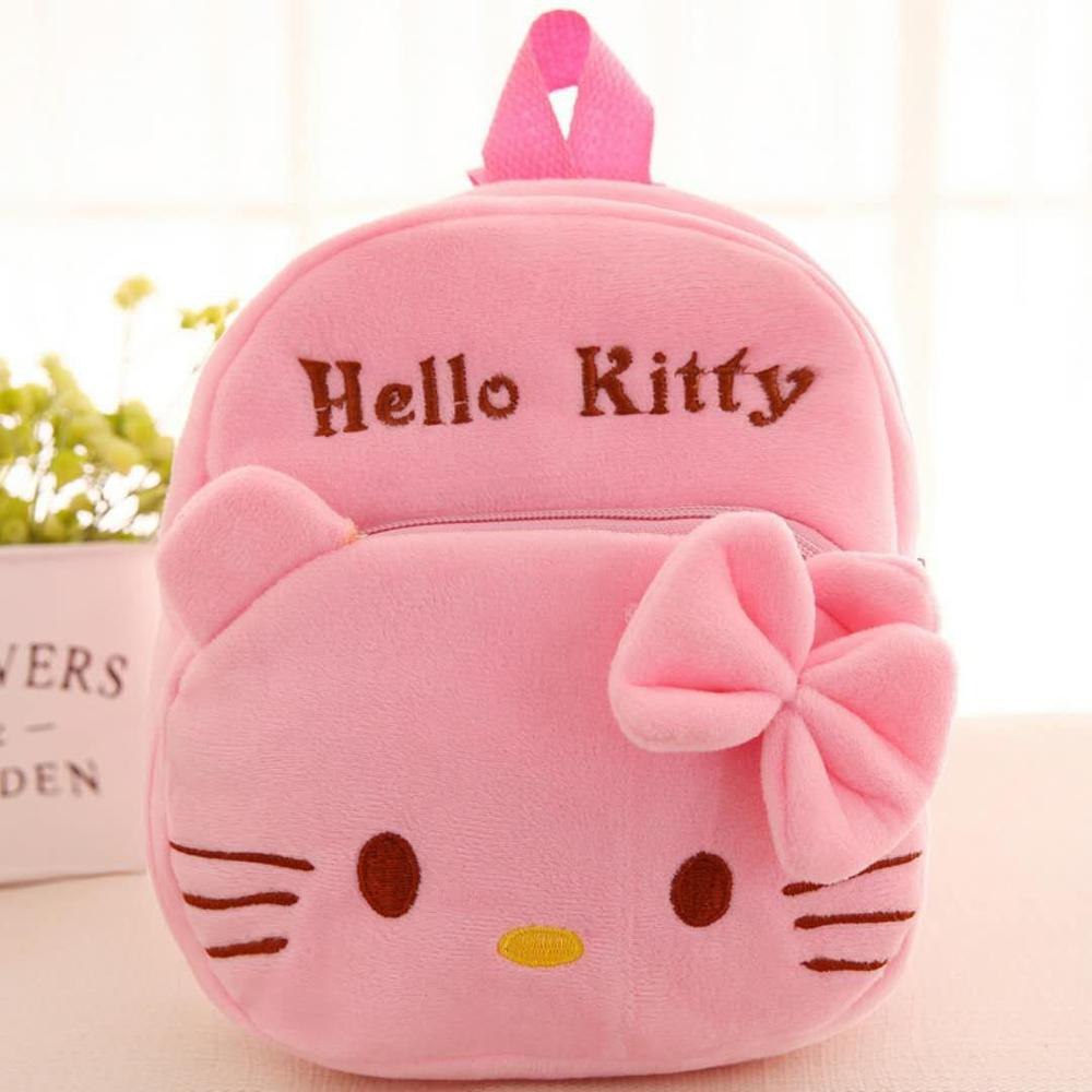 Hello Kitty Mickey Kids Child Boy Boy Girl Cartoon Plush Plush Backpack School Bag Shoulder Bag Backpack Rucksack Baby Girl