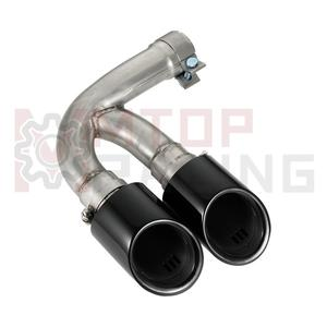 Image 4 - Exhaust Muffler Pipe For Porsche Cayenne 3.0T 2018 2019 Dual Tips Gloss Black
