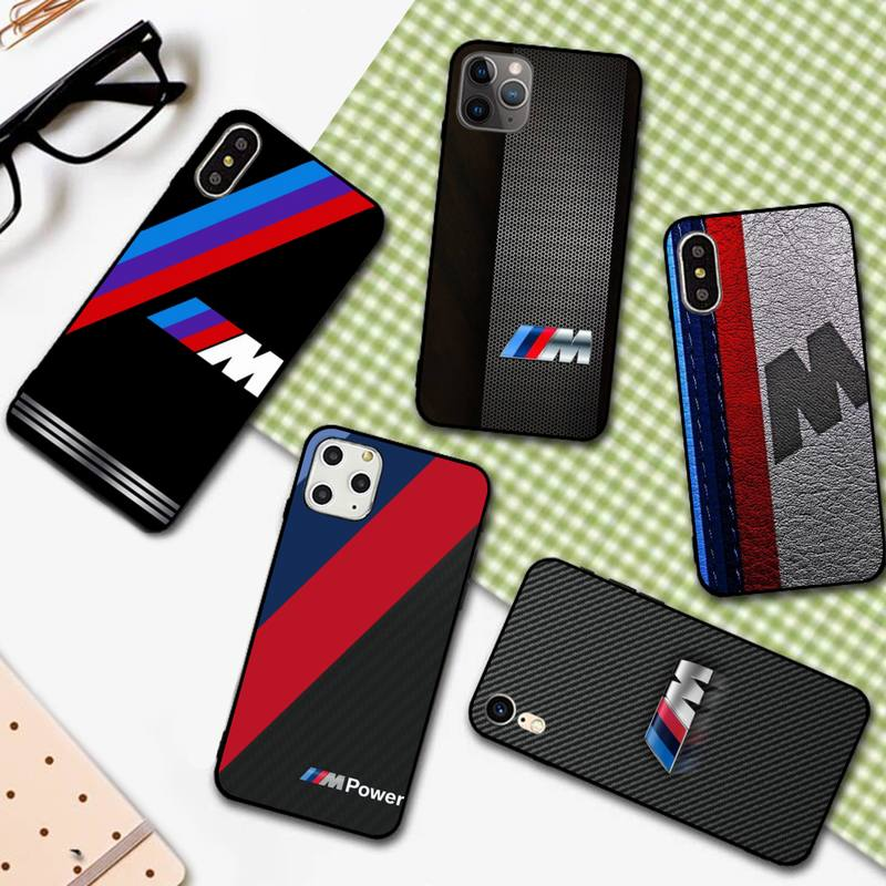YNDFCNB Hot Car BMW Logo Phone Case for iPhone 11 12 pro XS MAX 8 7 6 6S Plus X 5S SE 2020 XR cover image