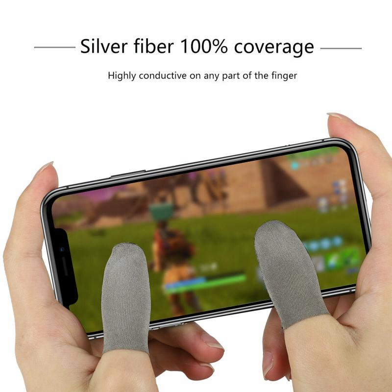 2/6/10 Pcs Game Finger Sleeve Gaming Controller Touch Screen Finger Protector Ultra-Thin Breathable Accessories For Mobile Games