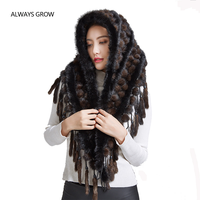 Shawl of mink fur new arrival fashion Scarf for women  ,beautiful warm ,slim scarves with real mink fur.