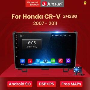 Junsun V1 4+64GB Android 9.0 For Honda CR-V 3 RE crv 2007 - 2011 Car Radio Multimedia Video Player GPS RDS 2 din dvd no cd slot