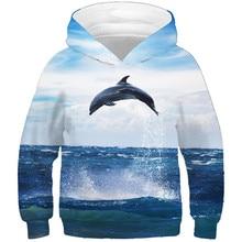 3d Sweatshirts Children Hoodies Pullovers Tops Jump Blue Baby Kids Boys/girls Sky Winter