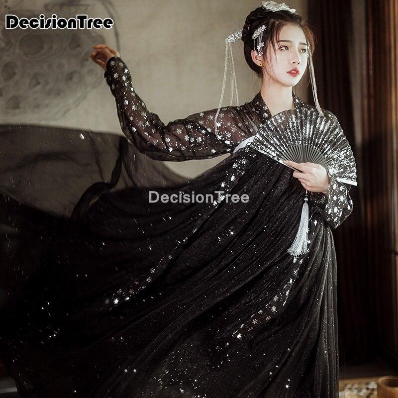 Disfraz de hada hanfu chino antiguo para mujer, traje tang, vestido popular para fiesta de princesa, trajes de baile, 2021