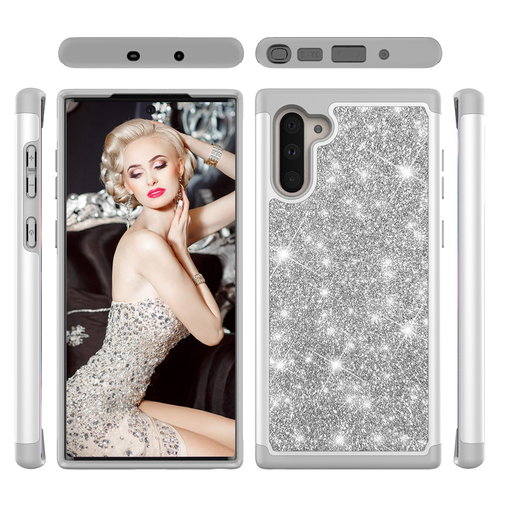 Image 3 - Glitter Phone Cases for Samsung Galaxy Note10 Note10 Plus Note10 Pro Case Luxury Bling Dual Layer Hybrid Hard PC TPU Funda Coque-in Fitted Cases from Cellphones & Telecommunications