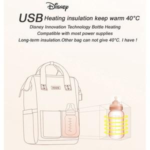 Image 5 - דיסני USB חיתול שקית תינוק טיפול שקיות בקבוק חם אמא תרמיל אימהי מיני מיקי Bolsa יולדות תרמיל תיק חדש 2020