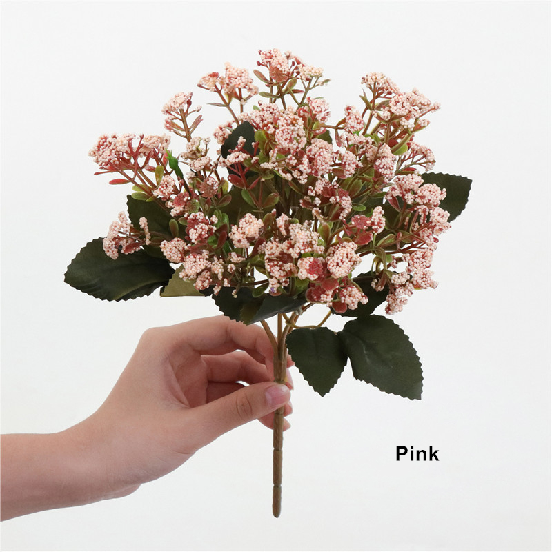 8 Styles Artificial Decorations Fake flowers Gypsophila Eucalyptus With Green Leaves Rose Flores For Home Wedding Decoration