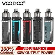 80w voopoo argus pro pod mod kit cigarro eletrônico vape 3000mah bateria pnp pod tanque PnP-VM6 PnP-VM1 vaporizador vs arrastar xs novo