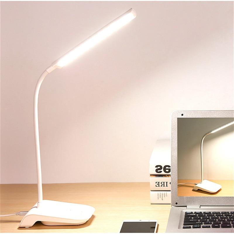 YAGE Gooseneck Wireless Table Lamp Reading Light USB Clip 22 Led Desk Lamp Touch Lamp Study Dimming Desk Light Flexo Lamps Table