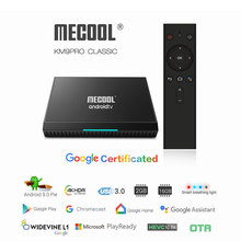 Buy Google Certified KM9 Pro TV Box Android 9 with BT Voice Remote Amlogic S905X2 Dual WiFi 4GB 32GB 4K Media Player 1 Year IPTV M3U directly from merchant!