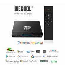 Google Certified KM9 Pro TV Box Android 9 with BT Voice Remote Amlogic S905X2 Dual WiFi 4GB 32GB 4K Media Player 1 Year IPTV M3U