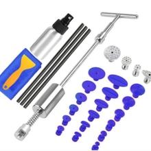 Paintless Dent onarım sökücü temizleme aracı seti profesyonel araba Dent araçları slayt T bar sıcak tutkal dokunun aşağı kitleri