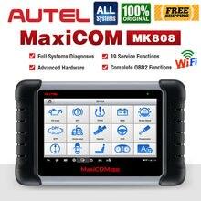 Autel MaxiCOM MK808 OBD2 الماسح الضوئي المهنية السيارات سيارة التشخيص أداة مسح ضوئي OBD 2 رمز القارئ ODB2 مفتاح الترميز MX808 MD802 DS808