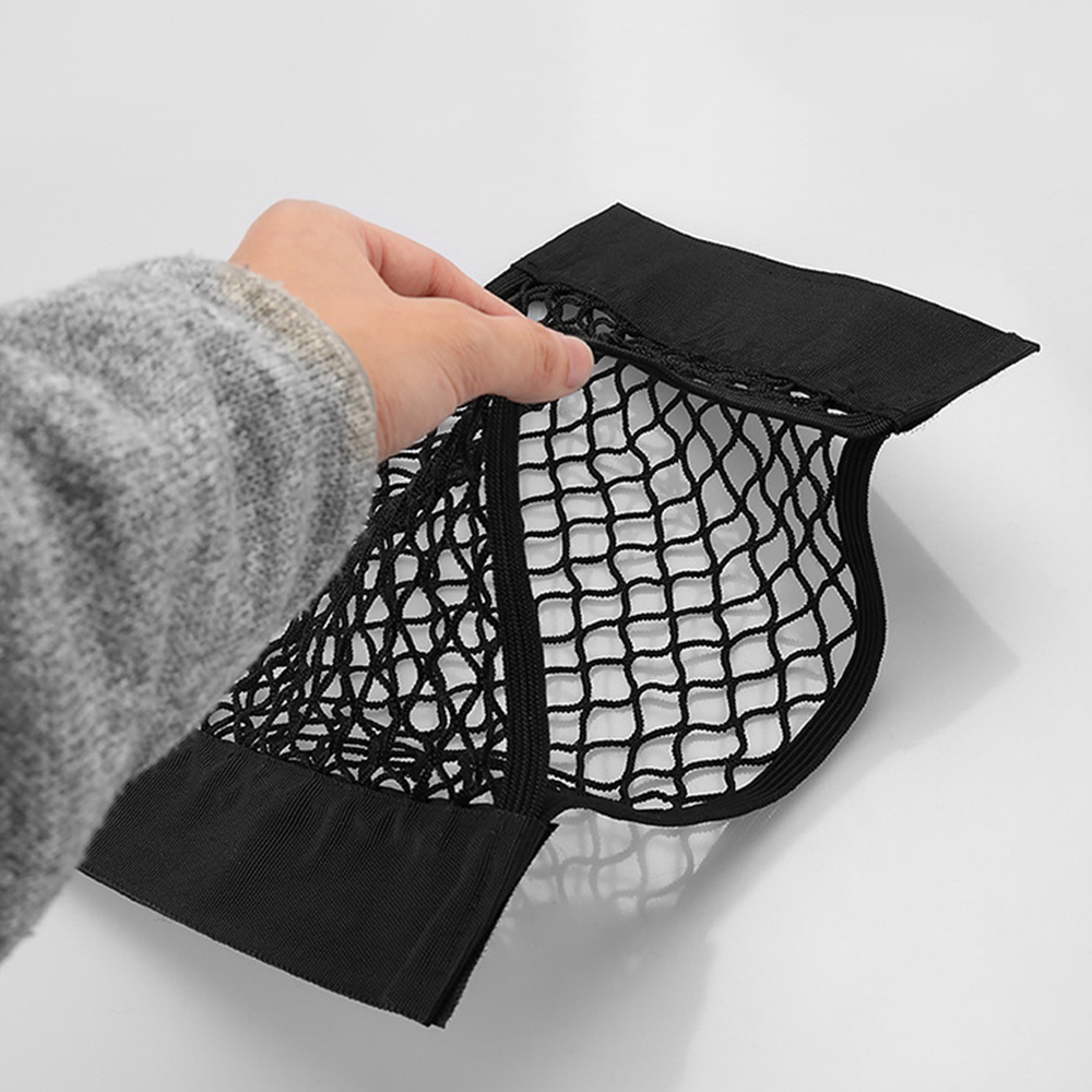 Buy 3 Sizes Auto Interior Nets Trunk Car Back Seat Storage Bag Elastic Mesh Net Car Styling Pocket Nets Stowing Tidying Black for only 2.43 USD