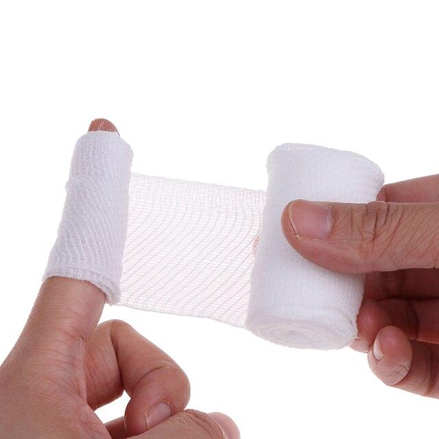 Cotton PBT Elastic Bandage Skin Friendly Breathable First Aid Kit Gauze Wound Dressing Medical Nursing Emergency Care Bandage 4