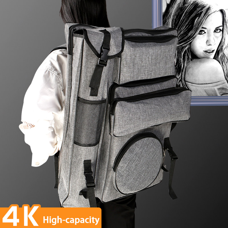 BNLG Large-capacity Multifunctional 4 K Drawing Board Bag Sketch Art Sketch Dedicated Backpack Portable Storage Bag Art Supplies