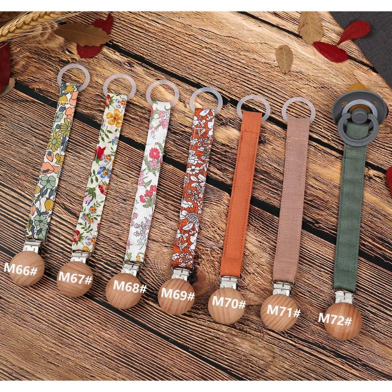 Cotton Linen Baby Pacifier Chain Clip Soother Nipple Holder Clasps Dummy Pacifier Clips Attache Feeding