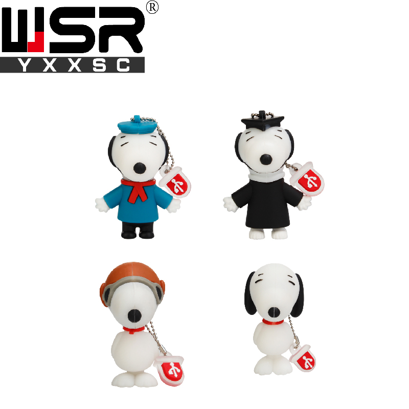 Cartoon Snoopy Usb2.0 Pen Drive  32gb  64gb 128gb Small Eyes Animal Dog High Speed Usb Key 4gb 8gb 16gb Cute Children's Day Gift