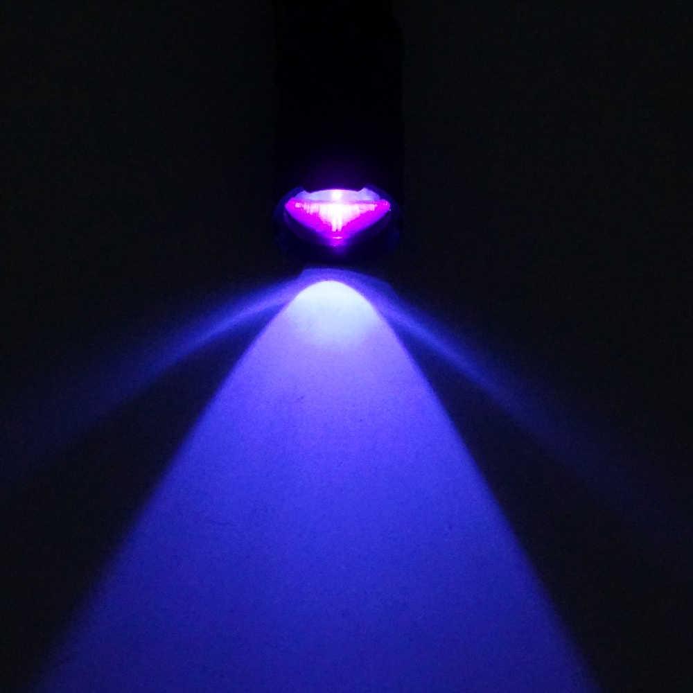 LED el feneri el feneri ultraviyole meşale Zoom fonksiyonu ile Mini UV siyah ışık Pet İdrar lekeleri dedektörü akrep AA/14500 pil
