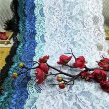 RR1492  18cm nylon spandex elastic broad lace for lingerie