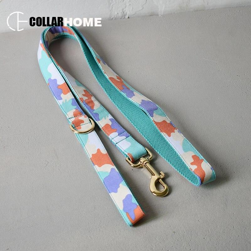 nylon bow dog collar pet leash adjustable with tie for medium big labrador christmas decorations gift