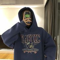 2021 new velvet padded hooded sweatshirt women loose Korean style street clothes women's jacket Harajuku print hoodie 1