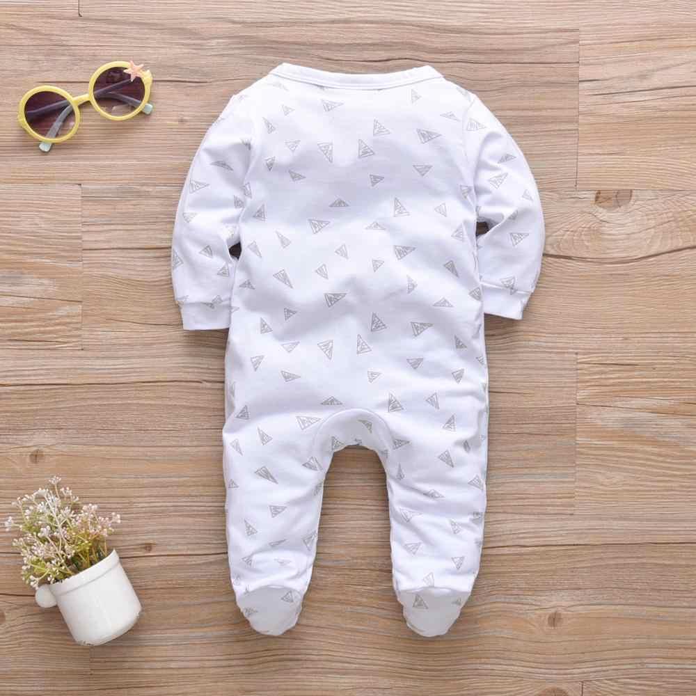 Nuevo mono de algodón de primavera otoño con estampado de letras de manga larga para bebé niño bebé niña traje de Gateo