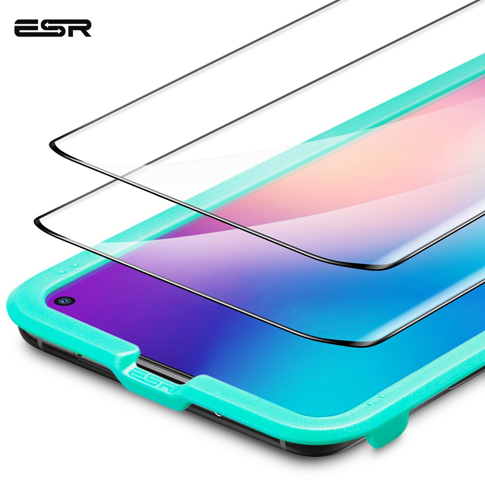 ESR Tempered Glass For Xiaomi 10/10 Pro Anti Bluy-Ray Glass Full Cover Screen Protective Soft TPU Explosion Proof Film For Mi10