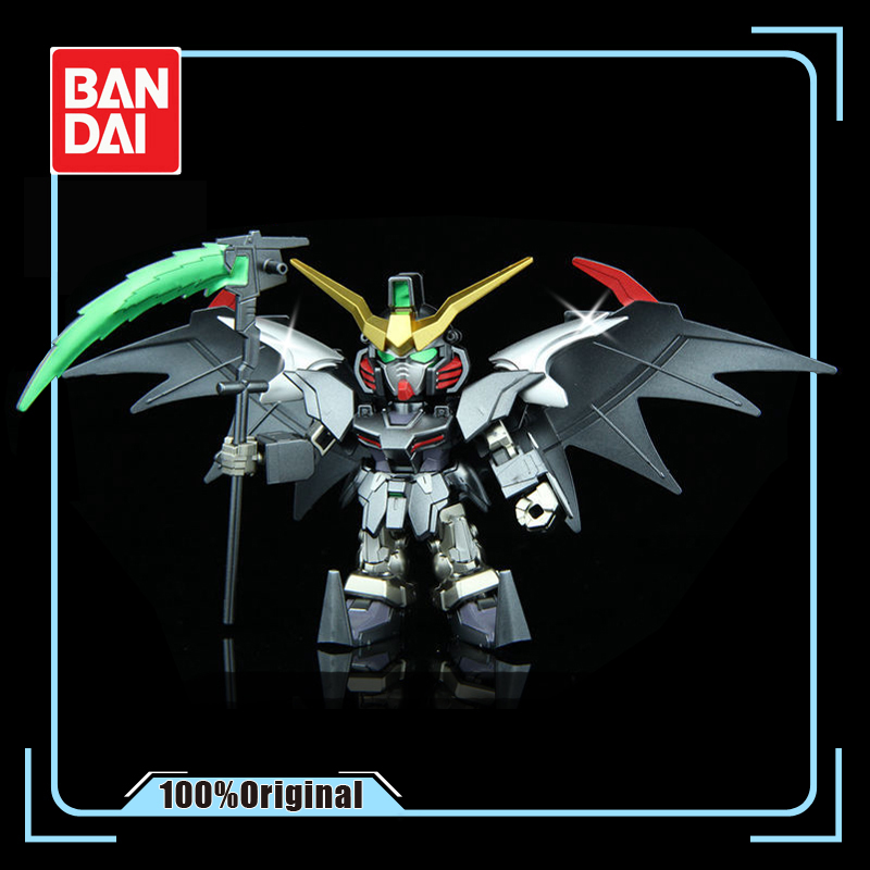 BANDAI XXXG-01D <font><b>Gundam</b></font> Deathscythe Metallic <font><b>BB</b></font> Soldier Series Q Version Assembled Model Doll Gift Action Toy Figures image