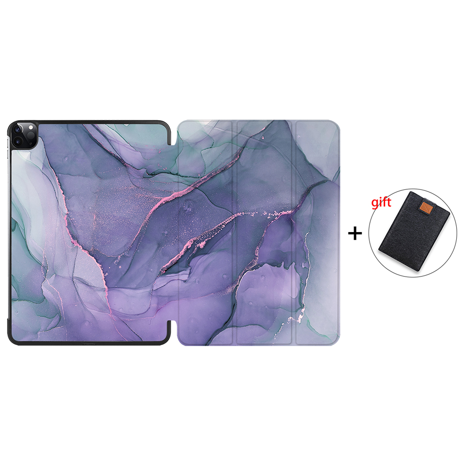IP09 Gray MTT 2020 Marble Tablet Case For iPad Pro 11 inch A2228 A2231 PU Leather Magnetic Fold
