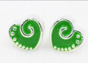 Image 1 - ขายส่งจำนวนมาก 1000 PCS สีเขียวหัวใจ Charms Big Hole ลูกปัดสร้อยข้อมือและสร้อยคอ