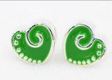Lotto del commercio allingrosso 1000 PCS Bella di Colore Verde del cuore Pendenti e Ciondoli Grandi Branelli del Foro Misura il Braccialetto Europeo e la Collana