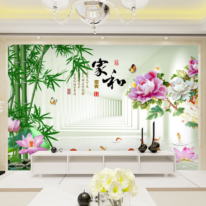 2019 New Style Mural TV Backdrop Wallpaper 3D Minimalist Modern 5D Stereo Living Room 8D Glorious TV Wall