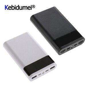 Image 1 - QC 3.0 Snelle Lading Dual USB Type C Power Bank Case DIY 4x18650 Mobiele Telefoon 15000mAh Batterij opbergdoos Zonder Batterij