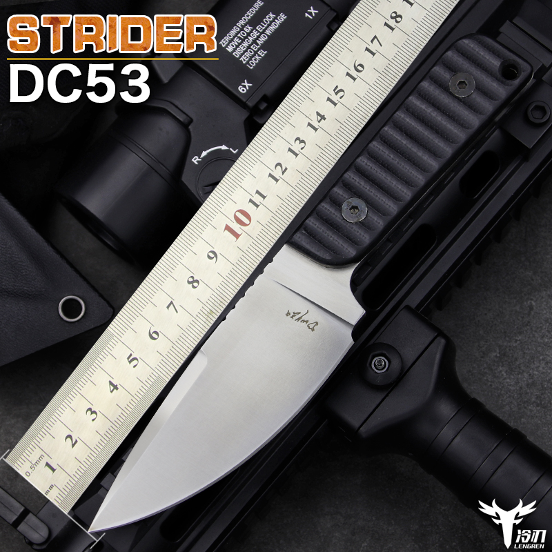 LENGREN DC53 steel High hardness small straight EDC knife outdoor tactical hunting knife self-defense camping sharp Sabre image