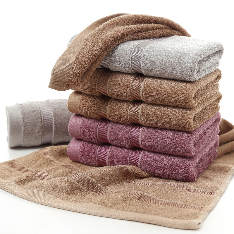 100% Bamboo Fiber Towels Purple Gray Brown Bath Face Towel Set Cool Bamboo Absorbent Healthy Bathroom Towels for Adults
