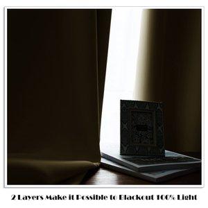 Image 4 - Nicetown Cortinas de doble capa para oscurecer completamente, accesorio con aislamiento muy grueso, para el salón, 1 unidad