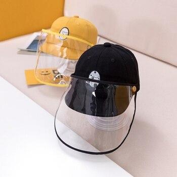 0-2 Years Old Baby Mask Hat Prevent Saliva Splash Goggle Face Cover Visor Kids Anti Dust Fish Cap Children Protective Equipment