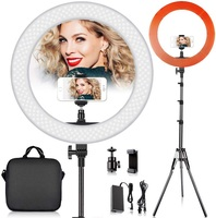 18 inch ring lamp dimmable circular photo camera lamp LED Ring Light with tripod for makeup video youtube