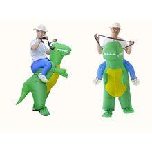 Надувной костюм динозавра для Хэллоуина, трехмерное платье с креплением динозавра E65D