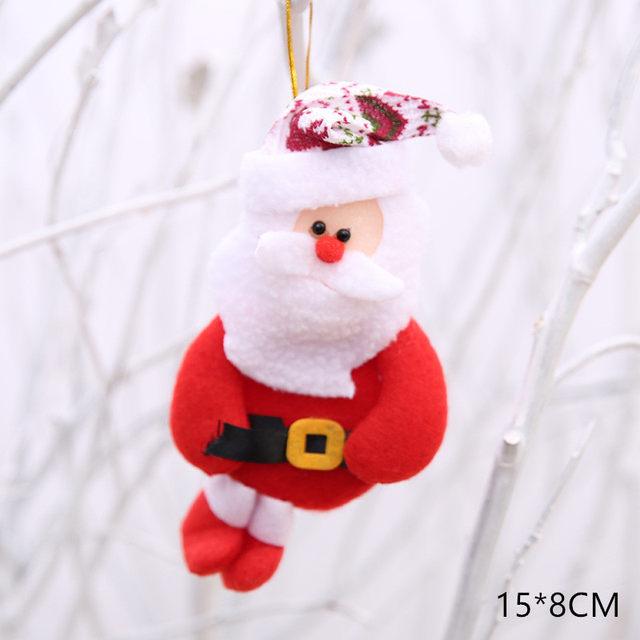 New Year 2020 Cute Santa Claus/Snowman/Angel Christmas Dolls Noel Christmas Tree Decoration for Home Xmas Navidad 2019 Kids Gift 57