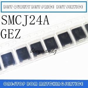 Image 1 - 10 pces smcj100a ggz smcj5.0a gde smcj48a gfx smcj24a gfx smcj58ca ggg smcj24ca bez DO 214AB diodo de supressão transitória