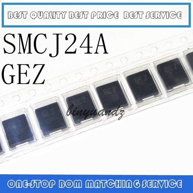10 pces smcj100a ggz smcj5.0a gde smcj48a gfx smcj24a gfx smcj58ca ggg smcj24ca bez DO 214AB diodo de supressão transitória