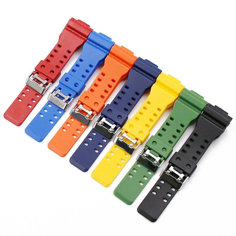 Sport Watch Strap For G Shock Smart Watch Bracelet For Casio Resin Watch Band For Casio G-shock Watch Belt Watchband Correa De